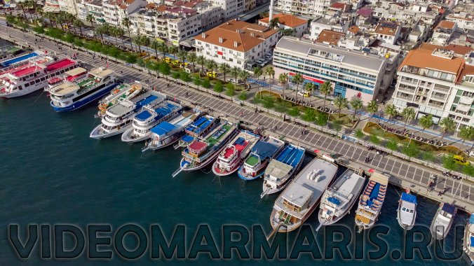 video from drone in Marmaris
