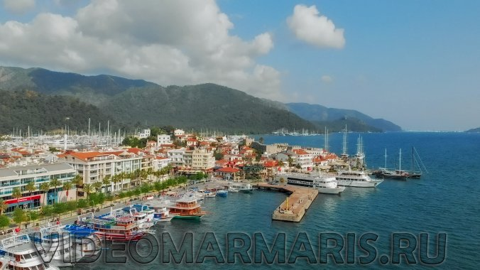 The drone in Marmaris and aero filming of 4K video